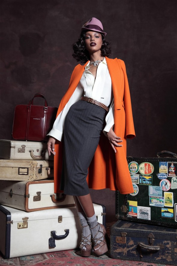 Jasmine Tookes - Pre Fall Collection - Dsquared2 - 2013